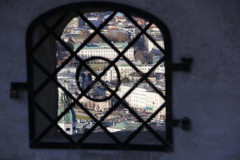Panorama von Salzburg stockfoto