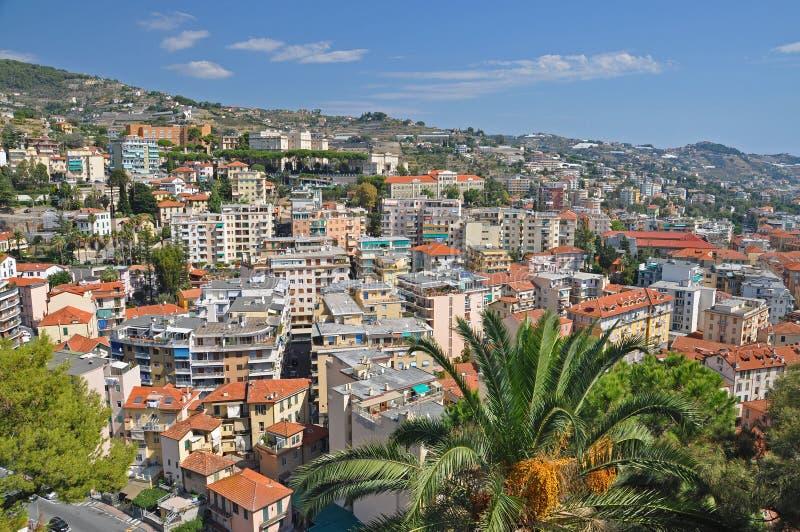 Panorama von San Remo, Italien lizenzfreies stockfoto