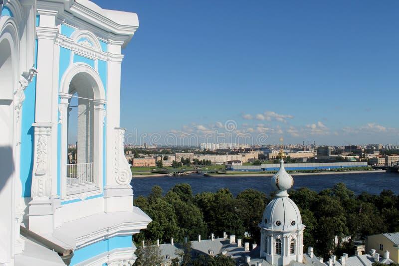 Panorama von St Petersburg stockbild