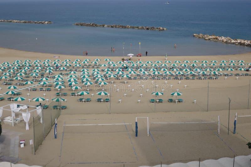 Panorama von Termoli Campobasso Molise Italien lizenzfreie stockfotos
