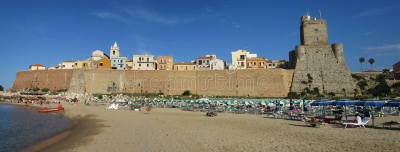 Panorama von Termoli Campobasso Molise Italien lizenzfreie stockbilder
