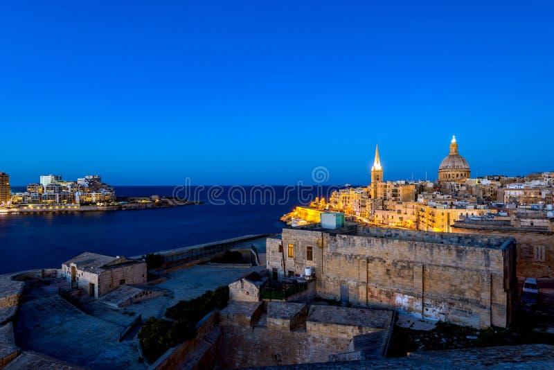 Panorama von Valletta, Malta stockfoto
