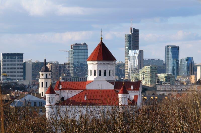Panorama von Vilnius vektor abbildung