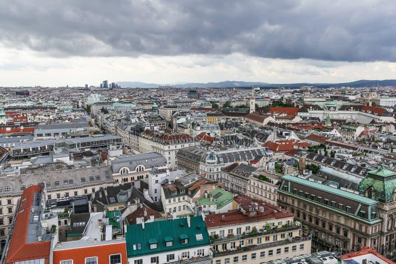 Panorama von Wien stockbild