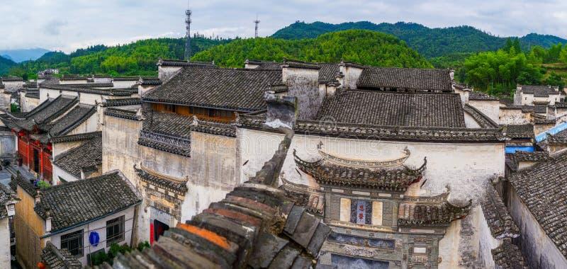 Panorama von Xidi-Dorf stockfotografie