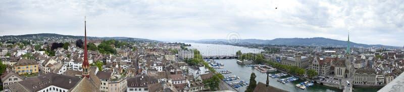 Panorama von Zürich stockfotos