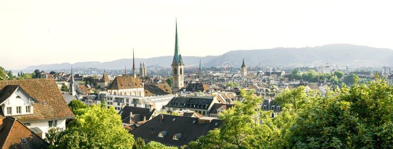 Panorama von Zürich stockbild