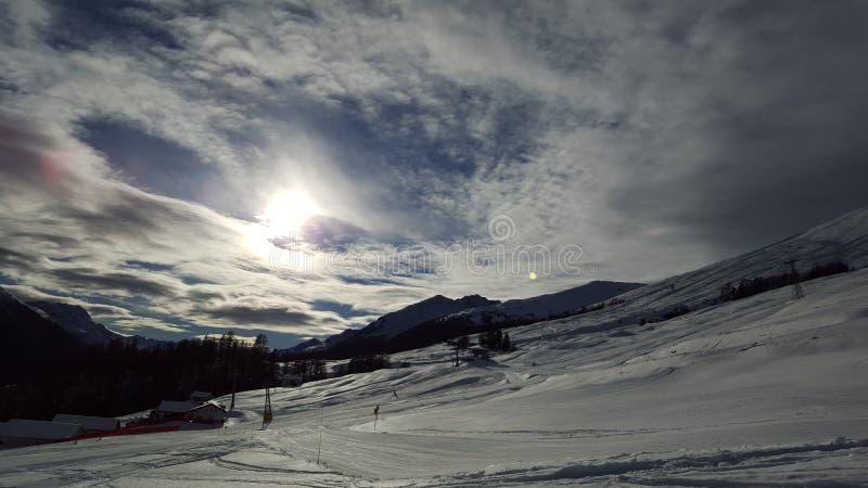 Panorama w Zuoz fotografia royalty free
