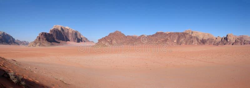 Panorama of wadi rum royalty free stock image