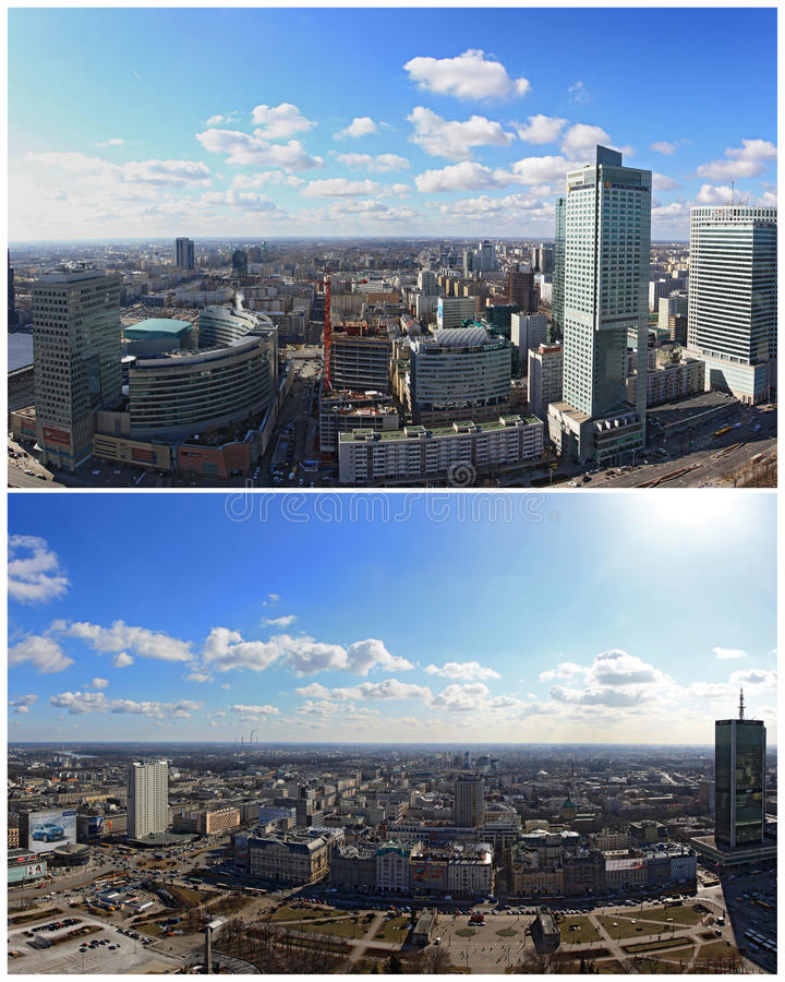 panorama Warsaw obraz stock