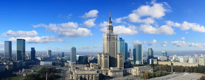 panorama Warsaw fotografia stock