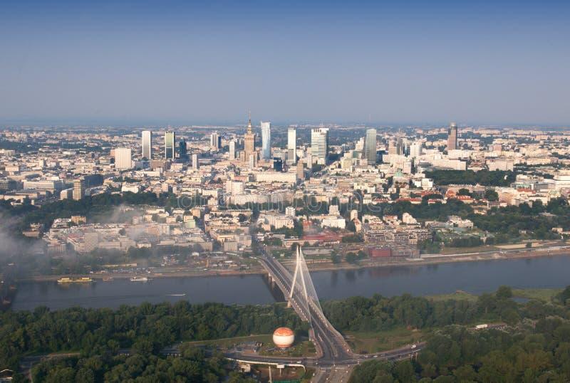 Panorama of Warsaw City royalty free stock photo