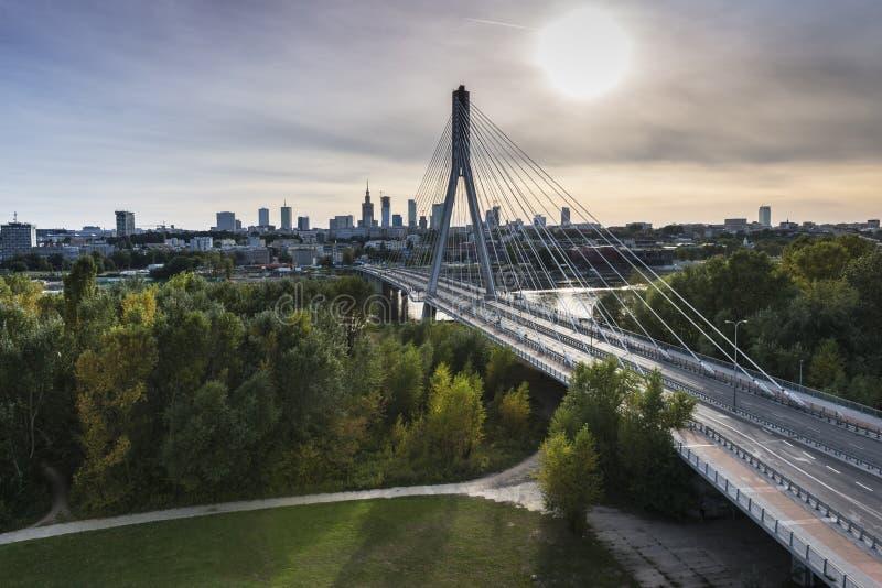 Panorama Warszawa w Polska obraz stock