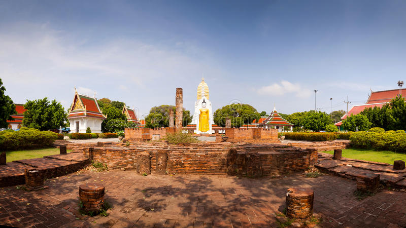 Panorama Wat Phar Sri Rattana Mahathat Tempel, Phitsanulok in T stockbild