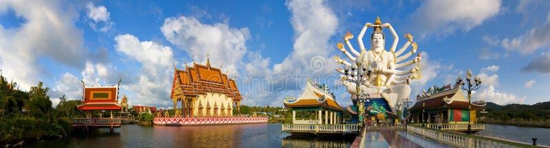 Panorama of wat plai laem royalty free stock image
