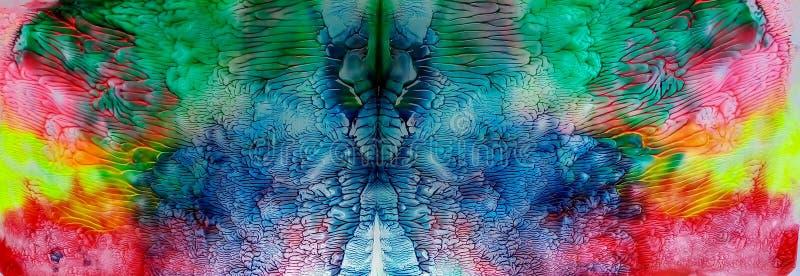 Panorama watercolor kaleidoscope of paints stock illustration