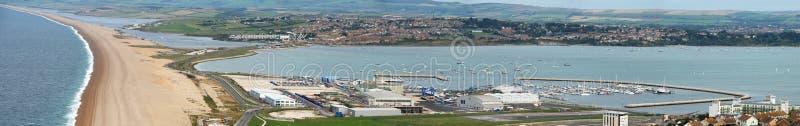 panorama- weymouth arkivbild