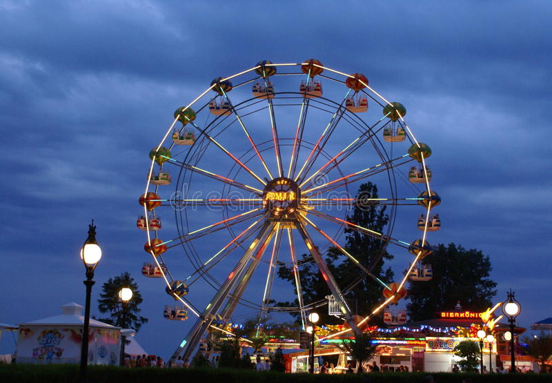 Panorama Wheel Golden Sands. stock images
