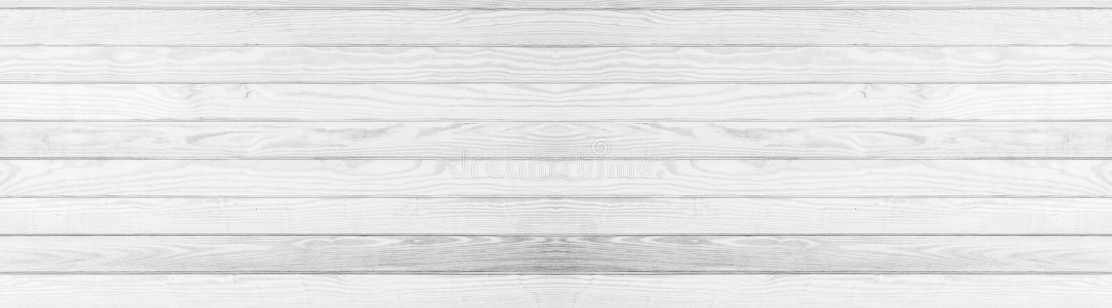 Panorama of white grey wooden texure floor background. White grunge royalty free stock photography