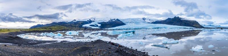 Panorama widok Icland ` s sekretu laguna zdjęcie royalty free