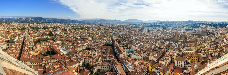 Panorama widok na Florencja obraz royalty free