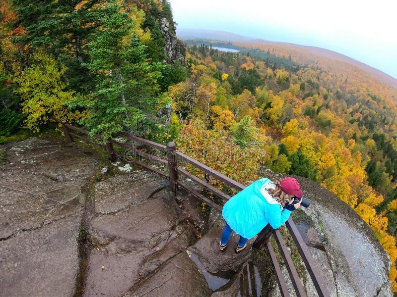 Panorama widok od wierzchołka Oberg góra Minnesota zdjęcia royalty free