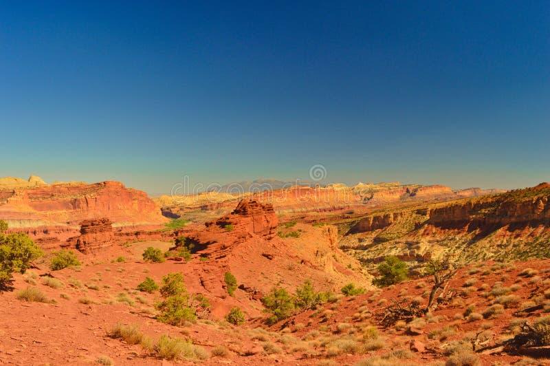 Panorama widok przy Capitol rafy parkiem narodowym zdjęcie stock