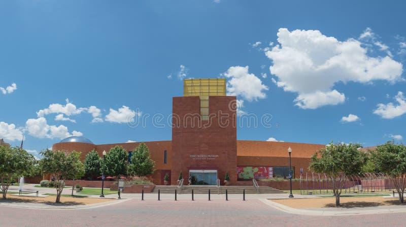 Panorama widoku Fort Worth muzeum nauka i historia fotografia royalty free