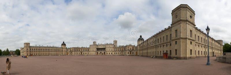 Panorama Wielki Gatchina pałac zdjęcia stock