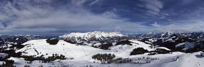 Panorama of wilder kaiser. In austria royalty free stock photos