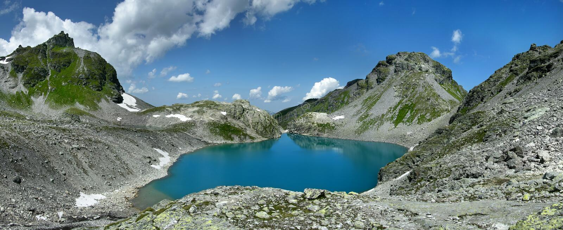 Panorama Wildsee lake in Switzerland royalty free stock photo