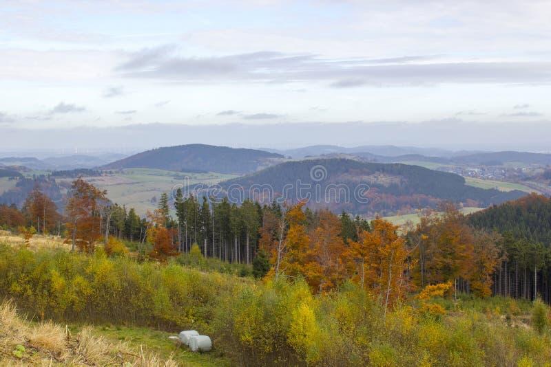 Panorama Willingen w Sauerland, Niemcy zdjęcia stock