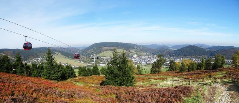 Panorama Willingen w Sauerland regionie Niemcy zdjęcie stock