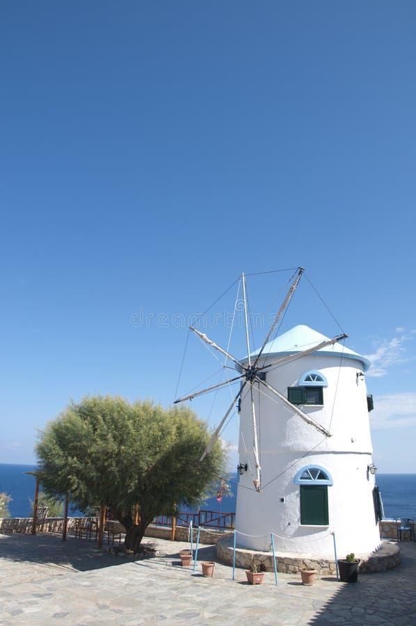 Panorama of windmill royalty free stock photos