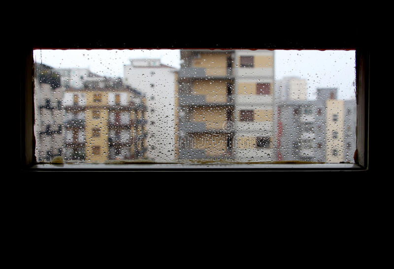 Download Panorama From The Window While Is Raining, Sad Mood Stock Photo - Image of city, winter: 39515496