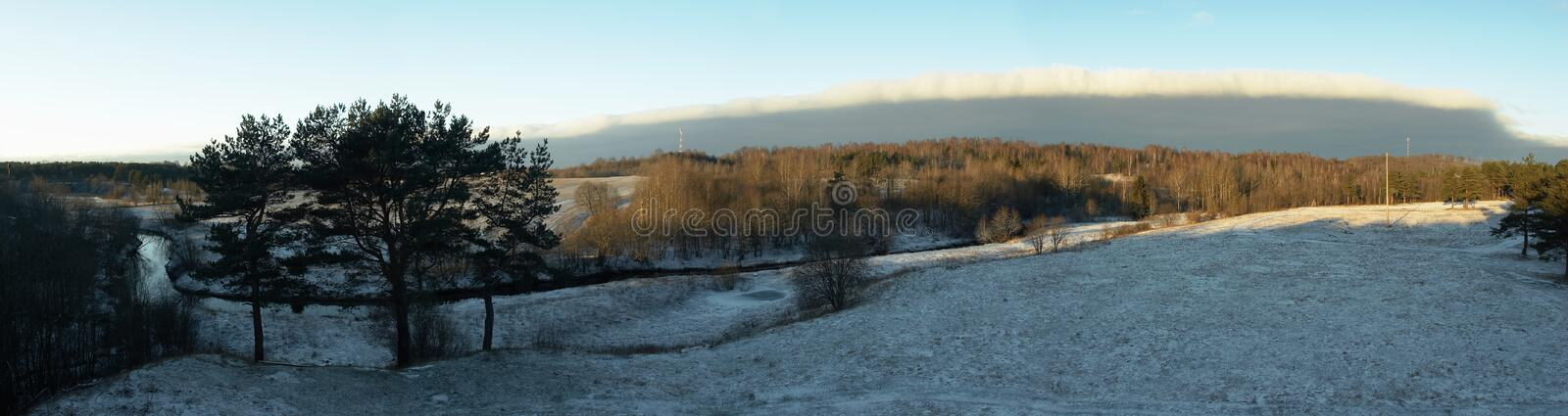 Download Panorama Of A Winter Landscape Stock Photo - Image: 1816466