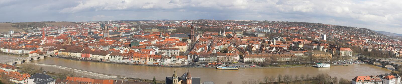 Panorama Wurzburg foto de archivo libre de regalías