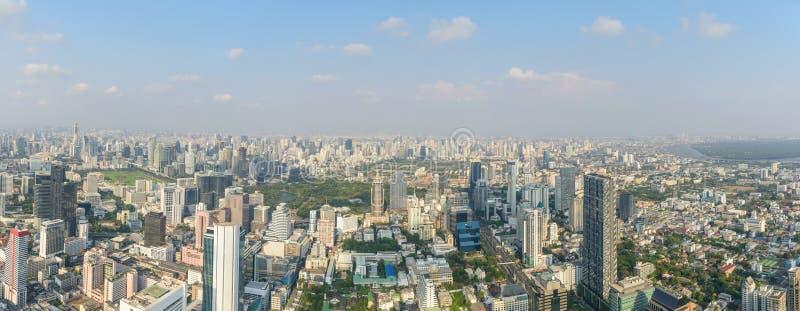 Panorama wysoki widok miasto obrazy stock