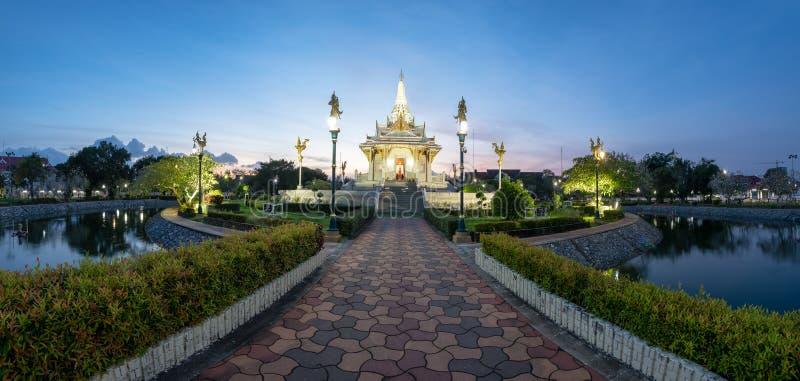 Panorama Yala miasta filaru świątynia, południe Tajlandia obraz stock