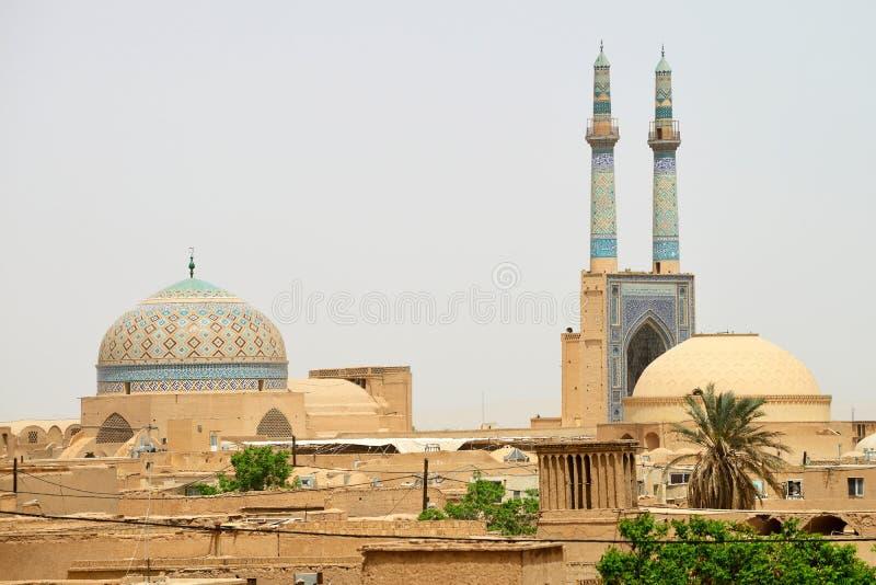 Download Panorama Yazd, Południowy Iran Zdjęcie Stock - Obraz złożonej z muslim, historia: 53793482