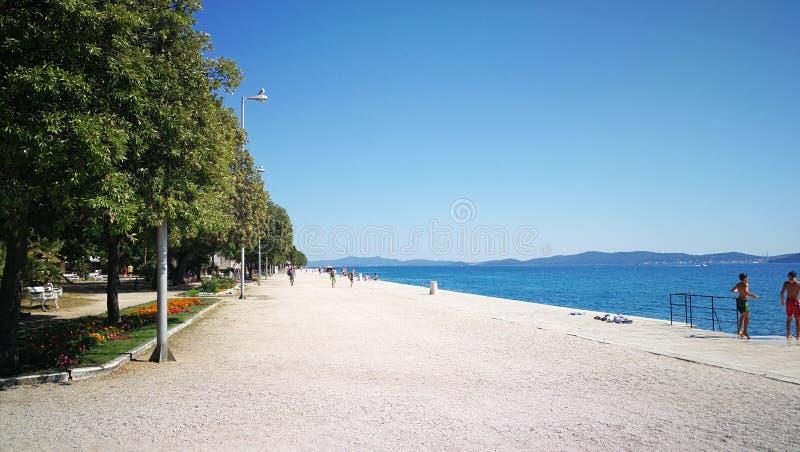 Panorama Zadar stockfoto