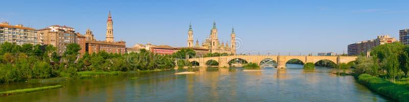 Panorama Zaragoza obraz stock