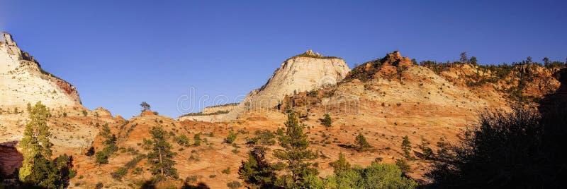 Panorama, Zion National Park imagenes de archivo