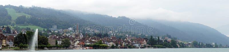 Panorama of Zug stock images