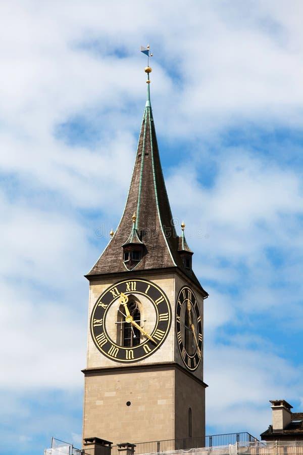 Download Panorama of Zurich stock image. Image of church, zurigo - 9802173