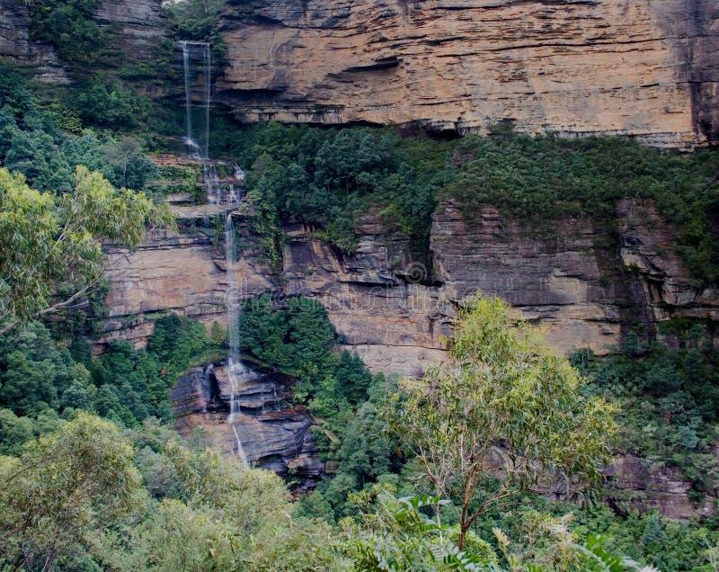 panorama2 lasów tropikalnych wodospadu fotografia royalty free