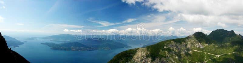 Panoramaansicht von der Löwespitze lizenzfreie stockfotos