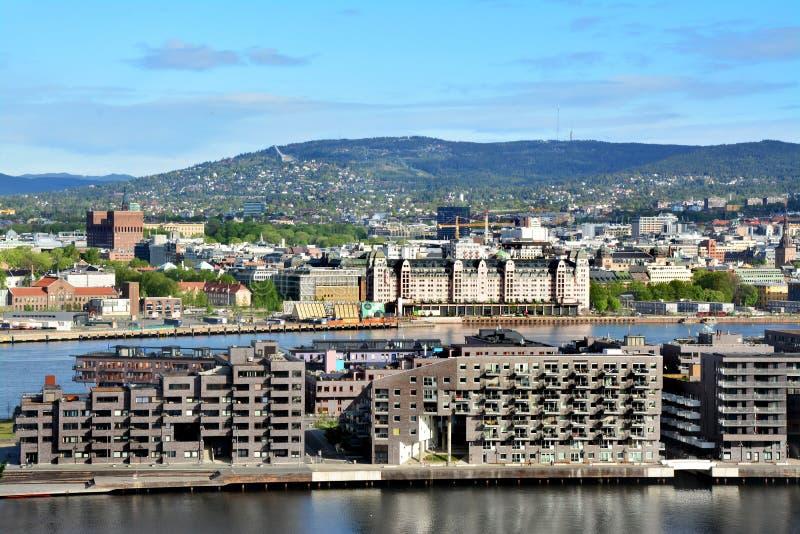 Panoramaansicht von Oslo, Norwegen stockfoto
