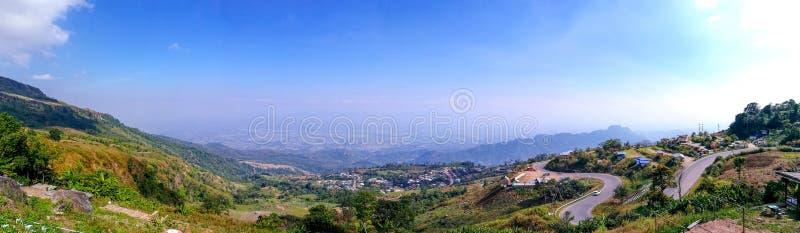 Panoramaansicht von Phu Thup Boek, Petchabun, Thailand lizenzfreies stockfoto