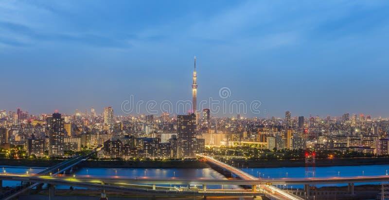 Panoramaansicht von Tokyo-Stadt stockbild